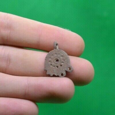 Ancient Celtic Druids Bronze Solar Pendant Earring - 300/200 Bc - Rare