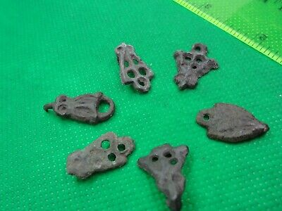 Ancient Viking Bronze pads  flies  Kievan Rus 10-12 century AD