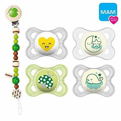 "'mam Day & Night ""Skin Soft Silicona Chupete 0 – 6 Claro Verde"