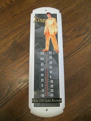"""Elvis Presley Thermometer  """"The King Of Rock & Roll"""" """"Over 110 Gold Records-Low$"""