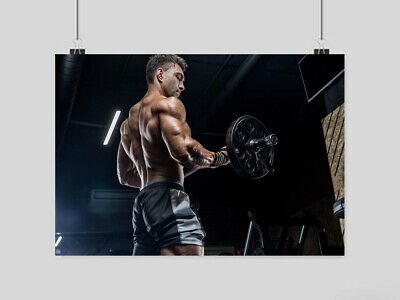 Gym Bodybuilding Hot Sexy Ripped Man Poster Fitness Weights Art Print A3 A4 Size