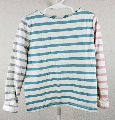 MINI BODEN Girls long sleeve shirt size 5-6 years multi color stripes