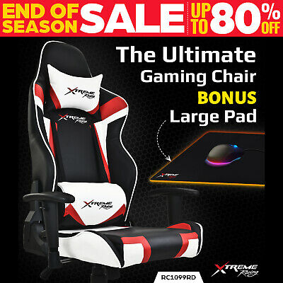 Xtreme Racing Gaming Office Chair PU Leather Computer Executive Recliner Seat B