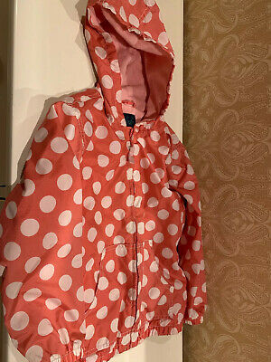 Mini Boden Girl's Size 7-8 Years Pink Nylon/ Cotton / Polyester Hooded Jacket