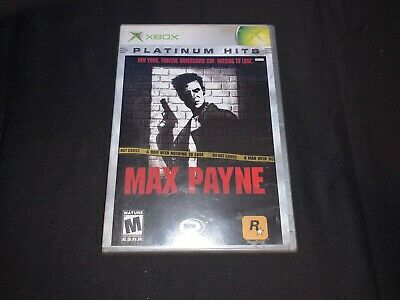 Max Payne Platinum Hits Microsoft Xbox Disc and Case Only, NO MANUAL