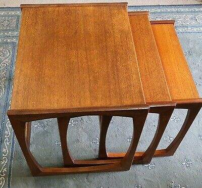 G Plan Retro Nest Of 3 Tables, Era 1960-1969- Made In England