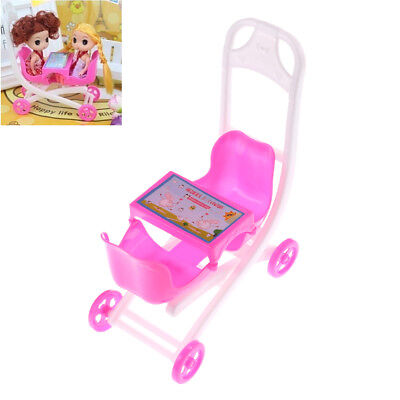 Pink Cute  doll 2 Baby Stroller Girl's Gift Doll Accessories&l