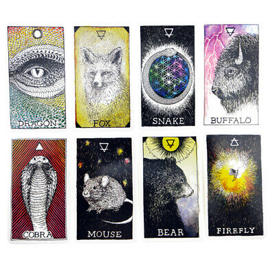 63pcs Animals Oracle Card Deck Mysterious Tarot Cards Divination Fate 60*103mm