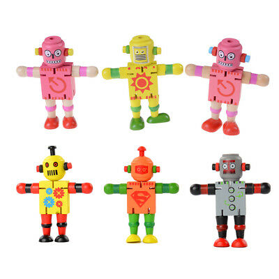 Creative Wooden Robot Learning & Educational Kids Early Learning Toy fw J Ev