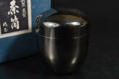 A1034: Japanese Copper TEA CADDY Natsume Chaire Container, auto Tea Ceremony