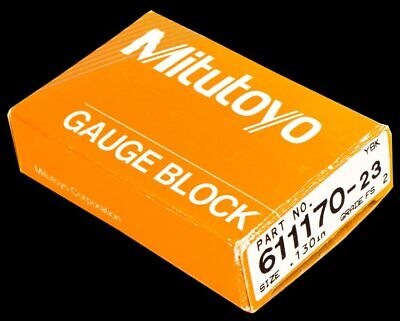 "NEW Mitutoyo 611176-23 .136"" Grade FS Rectangular Precision Gauge Block"