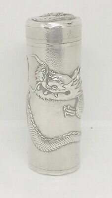 Rare Chinese export  sterling solid silver Sugar caster  ,  hallmarked (#2)