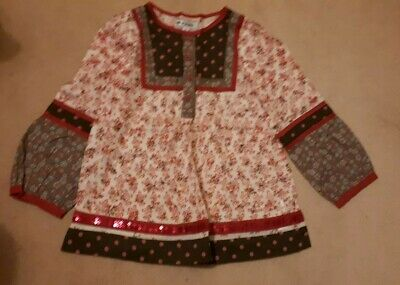 Gorgeous Girls Top Tunic Autograph Marks And Spencer  Age  5-6 Years Long Sleeve