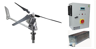 Set I-2000 48v Windsafe Windgenerator + Hybrid Laderegler Ista-Breeze