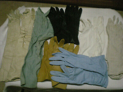 Vintage Ladies Gloves - 7 Pairs