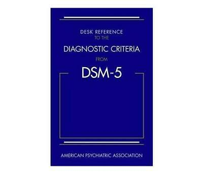 Desk Reference to the Diagnostic Criteria from DSM-5 Paperback Softcover USPS