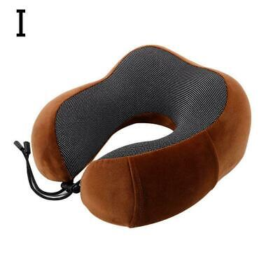 Memory Foam U-shaped Travel Pillow Neck Support Head Airplane Soft Cushion Y8B9