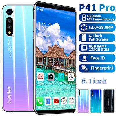 P41 Pro 8+128GB 6.1'' Mobile Phone Smartphone GSM 2 SIM Screen Unlock Android9.1