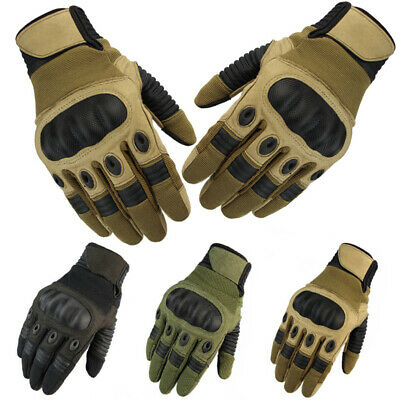 Tactical Hard Knuckle Gloves Mens Military Combat Assault Police Security Patrol