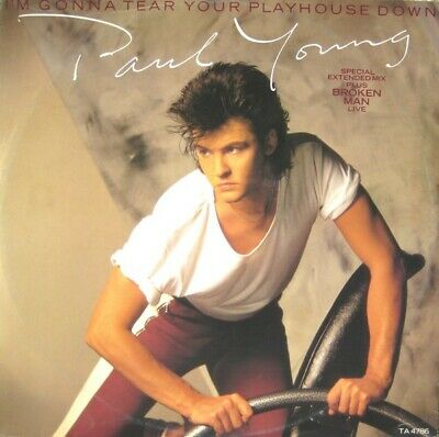"""Paul Young - I'm Gonna Tear Your Playhouse Down (Special Extended Mix) (12"""", ..."""