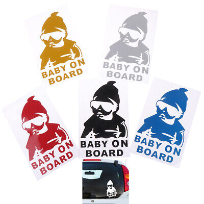 BABY ON BOARD Creative Fashion Car Sticker Tail Warning Sign Waterproof Decal Ev