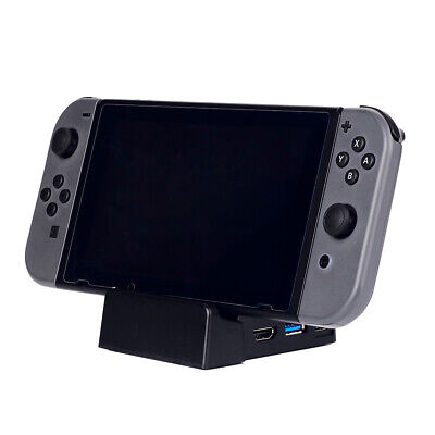 For Nintendo Switch Portable Cooling Base Replacement Dock Docking Station Black