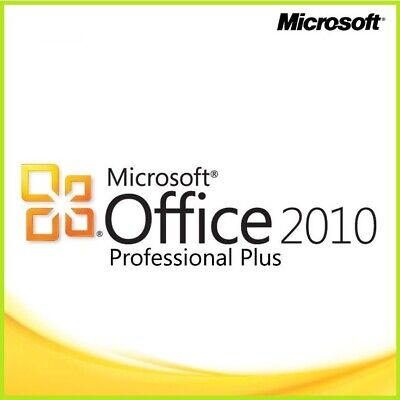 Microsoft Office Professional 2010 Plus Full version 1 PC Fast delivery