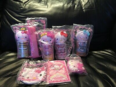 2007 Mcdonalds Happy Meal Hello Kitty Complete Set Of 8-Mint In Packages!!