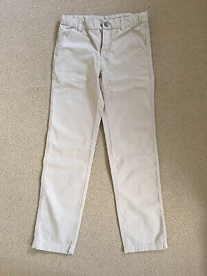 Polarn O Pyret Smart Cotton Beige Trousers Age 10-11 146cm Excel Cond