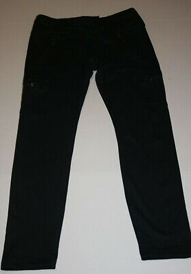 New Justice Girls 18 20 yr Black Zipper Pockets Athletic Leggings Active