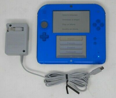Nintendo 2DS Handheld Gaming Console Electric Blue + Charger + Stylus UDAC 11-14