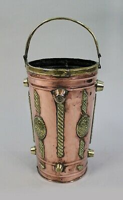 Arts & Crafts Copper & Brass Umbrella Stand c.1900