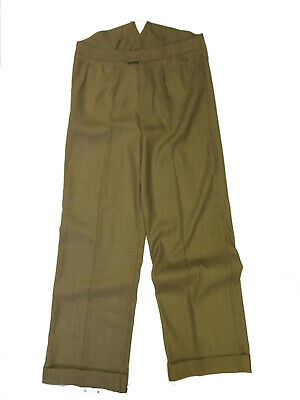 Revival 1940s 100% Wool Light Copper Fishtail Trousers - Small Fault Waist 40""