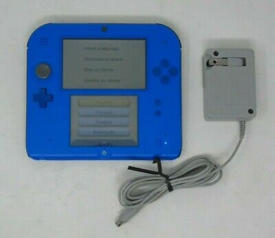 Nintendo 2DS Handheld Game Console Electric Blue + Charger + Stylus (UDAC) - 3