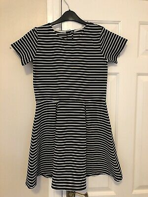Black And White Striped Dress, Age 12-13 Years!