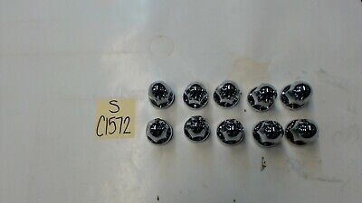 33MM Chrome Lug Nut Covers with Flange LOT OF 10