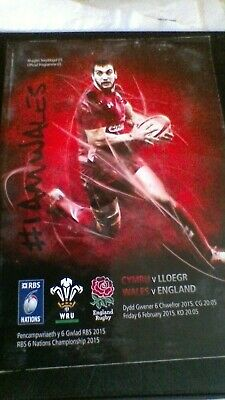 2015 Wales V England Five Nations Rugby Union Programme