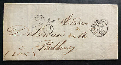 1851 Nantes France Vintage Letter Commercial Cover To Parthenay