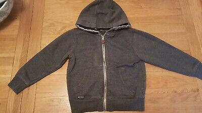 Boys dark grey zip hoody with pockets age 6 years from next