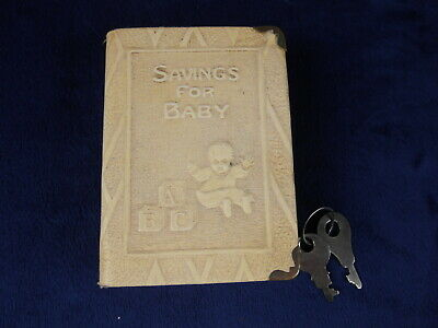 Vintage Bank The Thrift Book Savings For Baby Bank With Key