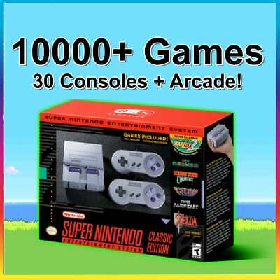 SNES Classic 10000+ Games 30 Systems Super Nintendo Classic Edition Mini Retro