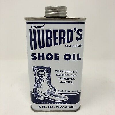 Huberds Shoe Oil Conditioner Waterproofs Softens Preserves Leather New Can 8 oz
