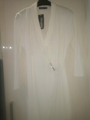 Brand new with tags ladies off White Dress size 14 from boohoo. Wrap over style