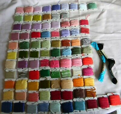 Dmc Emboidery Thread Wound Onto Bobbins Approx 90 Varying Amounts