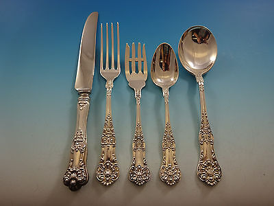 New Kings by Roden Canada Sterling Silver Flatware Set For 8 Service 40 Pcs