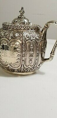 English Victorian Sterling Silver Teapot
