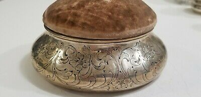 Antique Theodore B Starr Sterling Silver Pin Cushion
