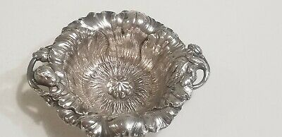 Reed & Barton Sterling Silver Art Nouveau Poppy Flower Dish  1903