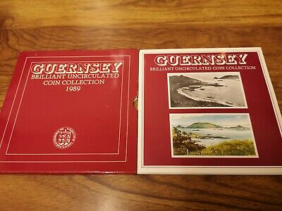 1989 Guernsey 7 coin uncirculated set including one pound coin