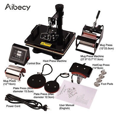 Aibecy 6 in 1 Combo Heat Press Machine Sublimation Heat Transfer 12*15 Inch L3E4